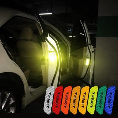 Купить Светоотражающая наклейка OPEN на двери авто. (в наборе 4шт.)