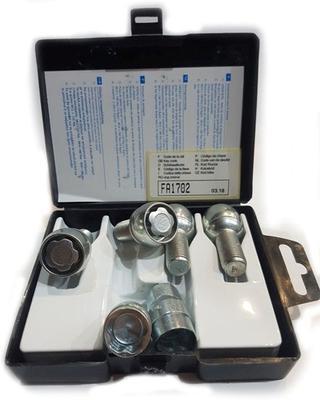Купить Секретки Farad B47/D-2CH Болт 12x1,5 40мм. Сфера - Ключ 17 - Вращающееся кольцо