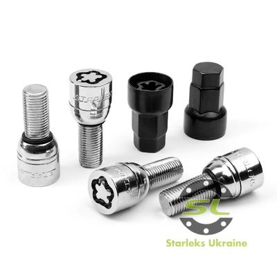 Купить Секретки Starleks 684177 KK/SL Болт 14*1,5 45мм.  Сфера-З ексцентриком
